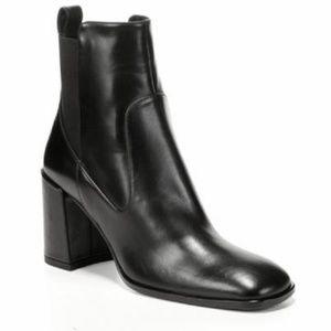 Via Spiga Delaney Black Leather Chelsea Boot